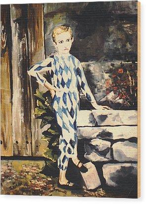 Lily Pierrot Wood Print by John Keaton