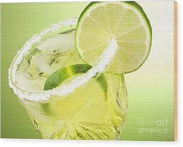 Lime Cocktail Drink Wood Print by Blink Images