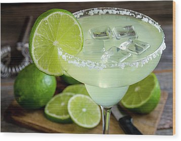 Wood Print featuring the photograph Lime Margarita Drink by Teri Virbickis