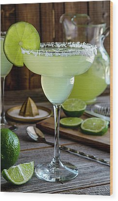 Wood Print featuring the photograph Lime Margaritas by Teri Virbickis