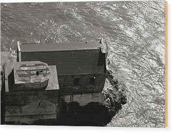 Lime Point Lighthouse Wood Print by Sonja Anderson