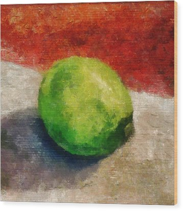 Lime Still Life Wood Print by Michelle Calkins