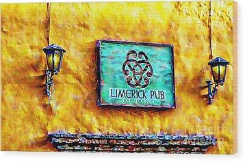Limerick Pub Wood Print