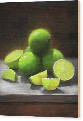 Limes In Sunlight Wood Print