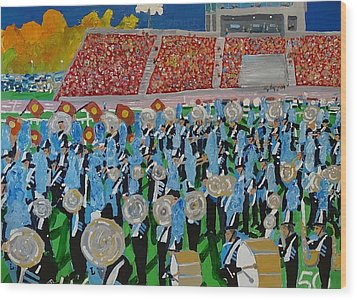 Lincoln Band Wood Print by Rodger Ellingson