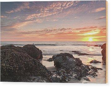 Lincoln City Beach Sunset - Oregon Coast Wood Print by Brian Harig