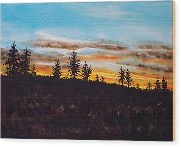 Lincoln County Sunset 1 Wood Print