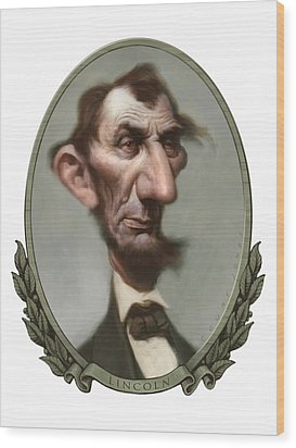 Lincoln Wood Print by Court Jones
