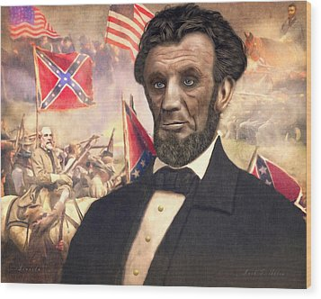 Lincoln Wood Print by Mark Allen