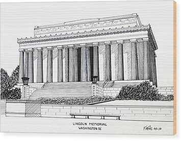 Lincoln Memorial  Wood Print by Frederic Kohli