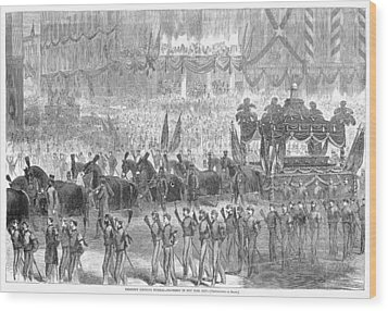 Lincolns Funeral, 1865 Wood Print by Granger