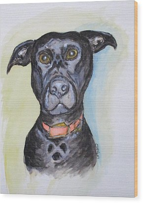 Linda's Doggie Wood Print by Clyde J Kell