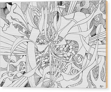 Mindfulness  Wood Print by Charles Cater