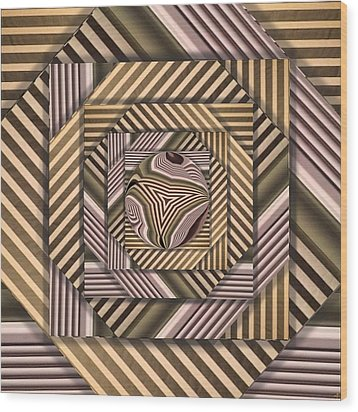 Line Geometry Wood Print by Ron Bissett