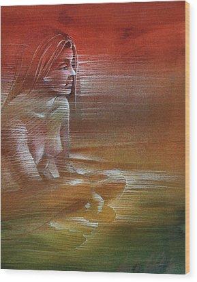 Line Nude 1977 Wood Print