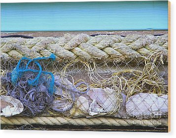 Wood Print featuring the photograph Line Of Debris II by Stephen Mitchell