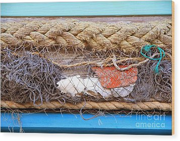 Wood Print featuring the photograph Line Of Debris by Stephen Mitchell