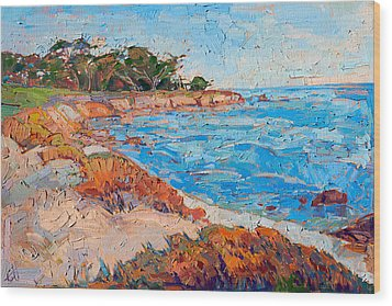 Line Of Monterey Wood Print by Erin Hanson