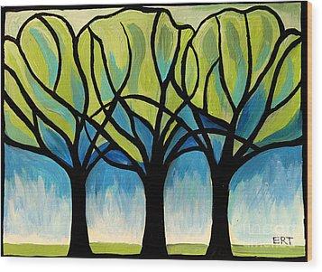 Lineage  Wood Print by Elizabeth Robinette Tyndall