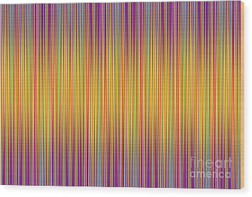 Wood Print featuring the digital art Lines 102 by Bruce Stanfield