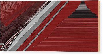 Lines 50 Wood Print