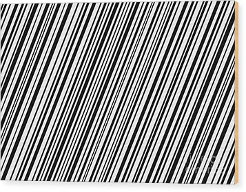 Wood Print featuring the digital art Lines 7 Diag by Bruce Stanfield
