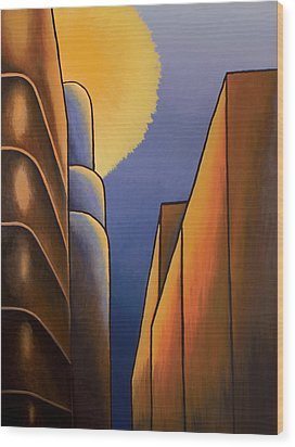Lines And Curves Wood Print by Duane Gordon