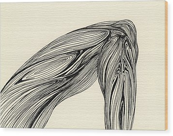 Lines - #ss13dw002 Wood Print by Satomi Sugimoto