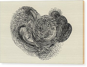 Lines - #ss13dw024 Wood Print by Satomi Sugimoto