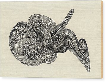 Lines - #ss13dw025 Wood Print by Satomi Sugimoto