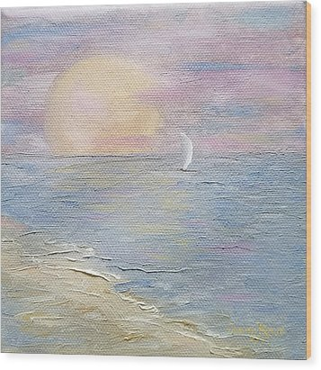 Wood Print featuring the painting Lingering Freedom by Judith Rhue