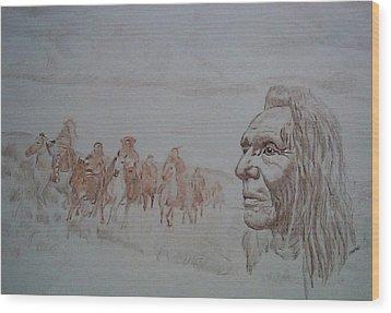 Lingering Wood Print by Martin Lagewaard