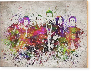 Linkin Park In Color Wood Print