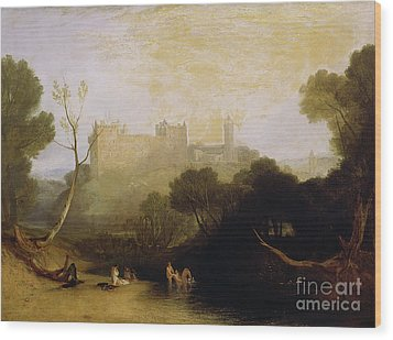 Linlithgow Palace Wood Print by Joseph Mallord William Turner