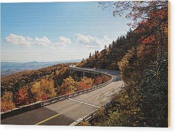 Linn Cove Viaduct Wood Print by Deborah Scannell