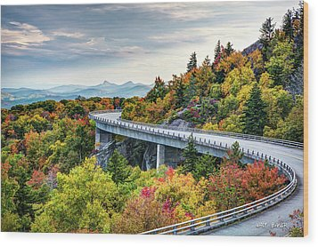 Linn Cove Viaduct Wood Print