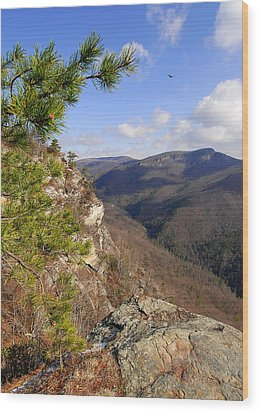 Linville Gorge Wood Print by Alan Lenk