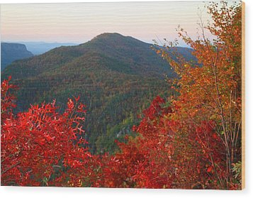 Wood Print featuring the photograph Linville Gorge by Kathryn Meyer