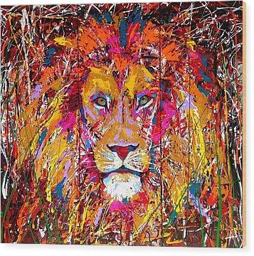 Lion 4 Wood Print