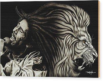 Lion Heart -bob Marley Wood Print