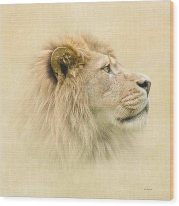 Lion II Wood Print by Roy  McPeak