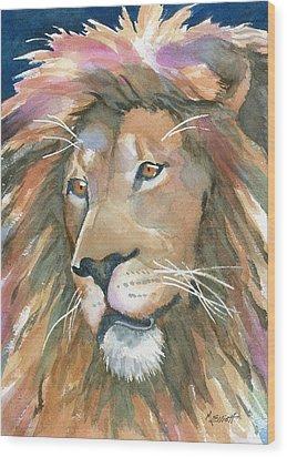 Lion Of Judah Wood Print by Marsha Elliott