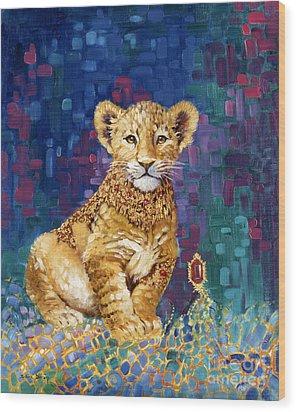 Lion Prince Wood Print by Silvia  Duran