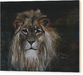 Sargas The Lion Wood Print