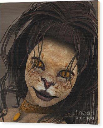 Lioness Wood Print by Jutta Maria Pusl