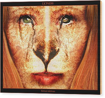 Lioness Wood Print by Robert  Adelman