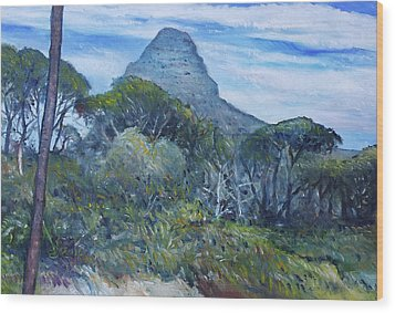 Lions Head Cape Town South Africa 2016 Wood Print by Enver Larney