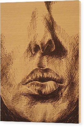 Lips Are Beautiful Wood Print by J Oriel