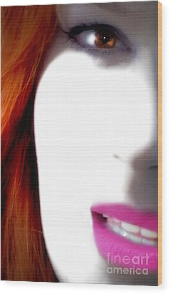 Lips Wood Print by Steven Digman