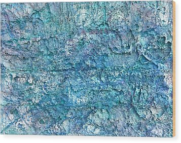 Wood Print featuring the painting Liquid Abstract #22617 by Robert Anderson